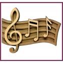 Notes de musique 13cm